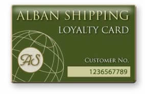 Alban Shipping loyalty card